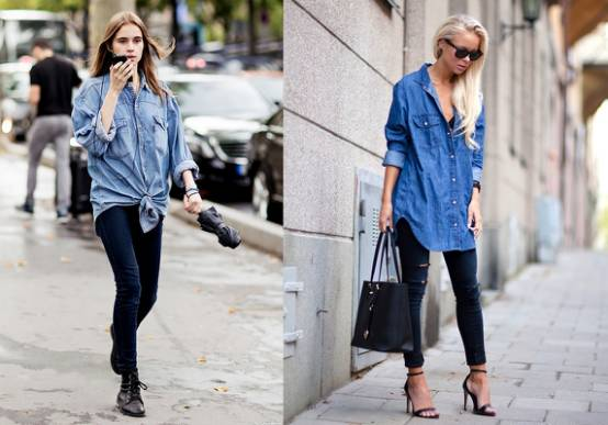 穿搭|衬衫+牛仔裤,轻松营造出街范儿