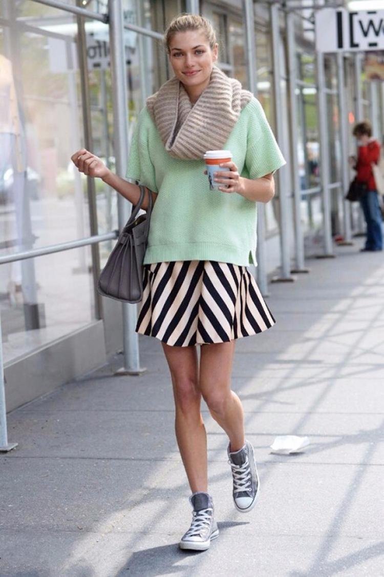 【一衣多穿】个子矮的照样能穿高帮帆布鞋!