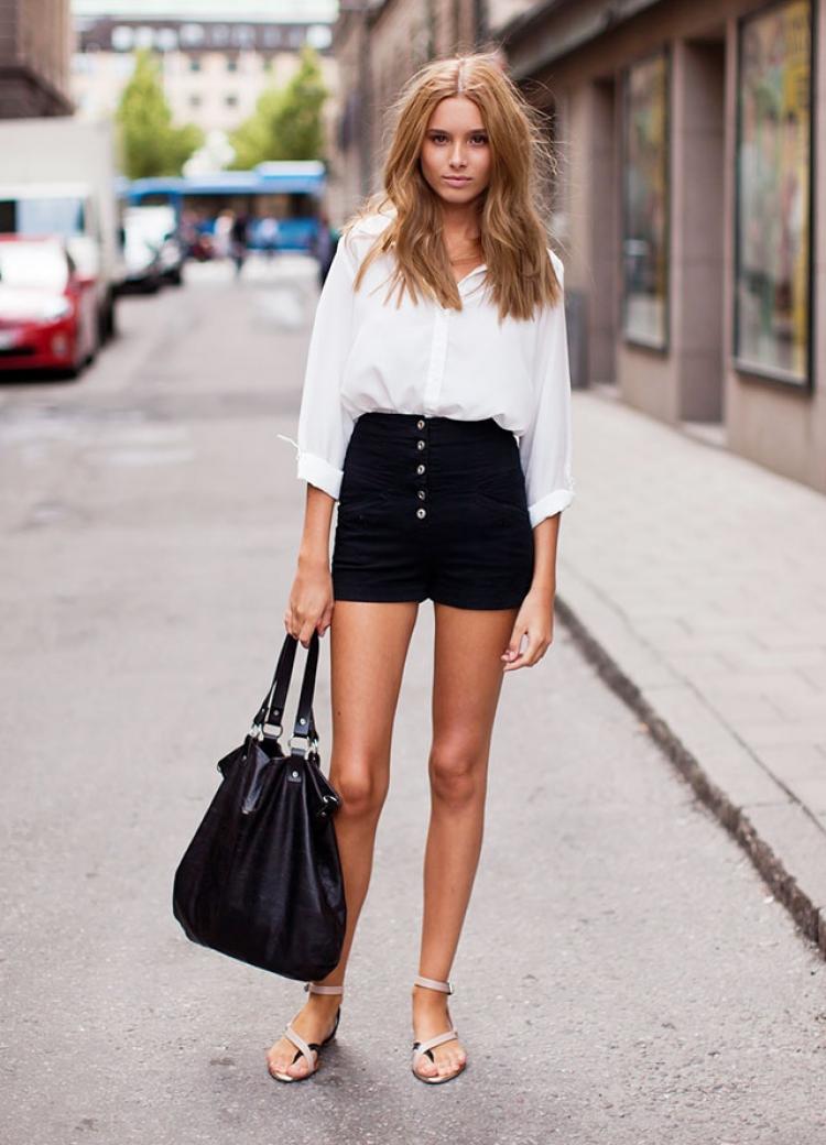 【一衣多穿】黑色短裤就像黑色裙子一样百搭无敌!