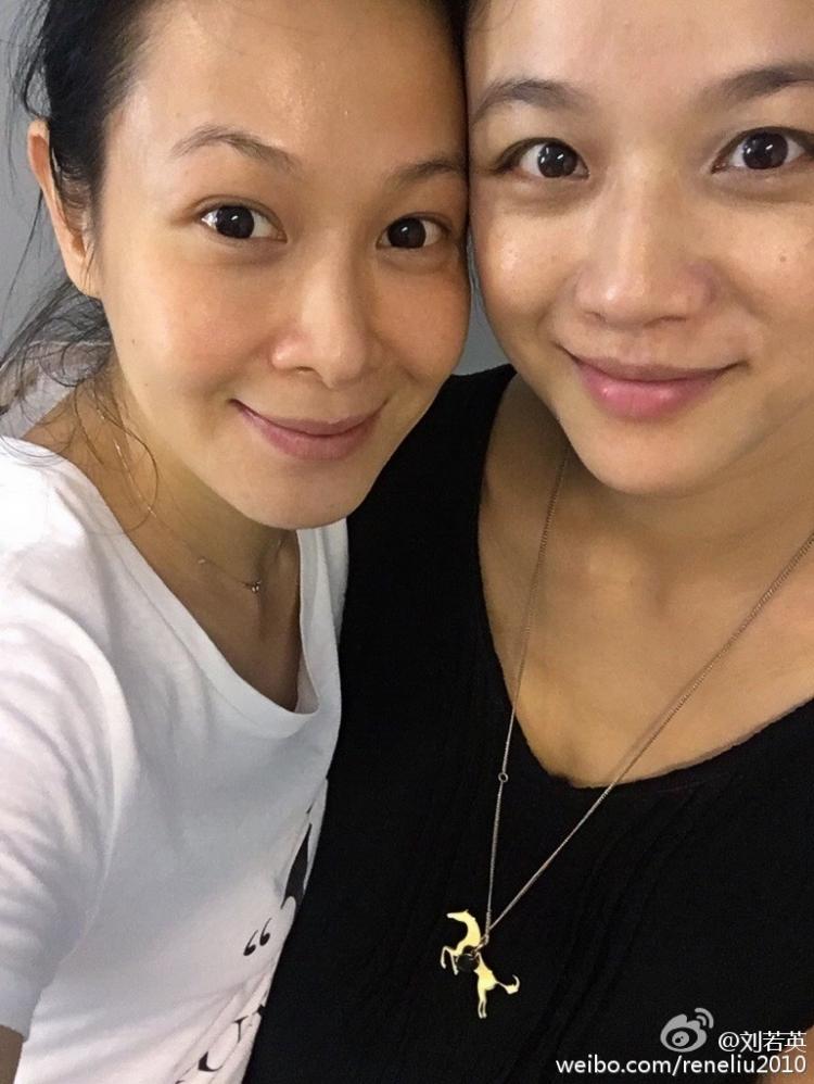 刘若英晒与汤唯纯素颜合影,这哪像46岁和37岁的脸!