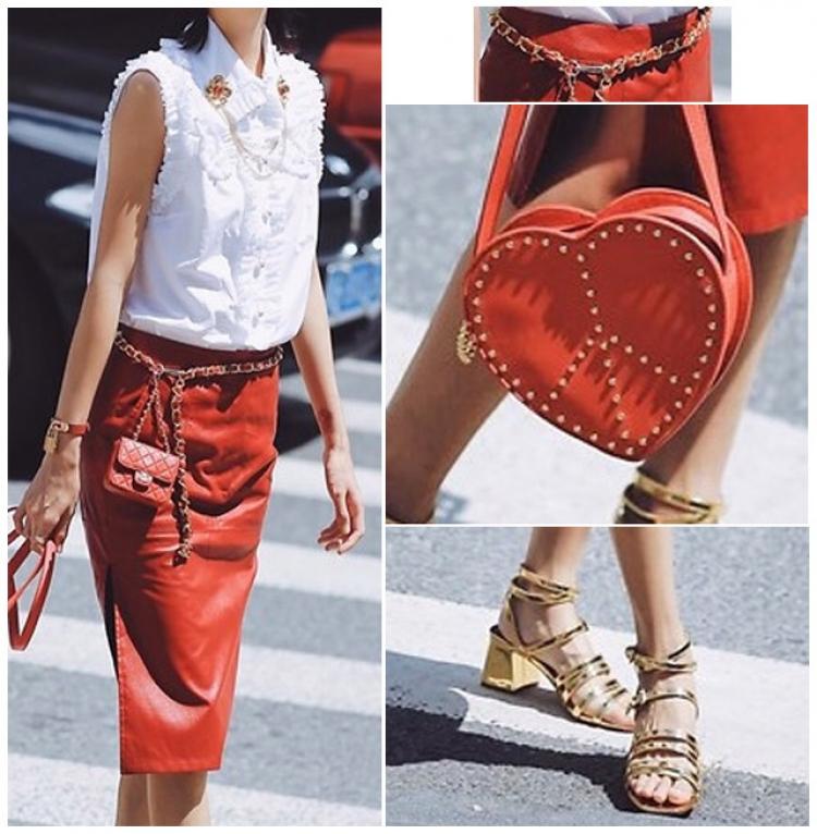 【今天穿啥】红色皮裙已成斩男神器!你还不会穿?