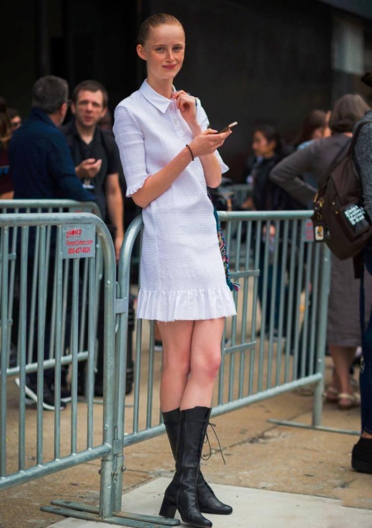 小白裙真有魔力,奶茶妹妹生了娃还能这么少女!
