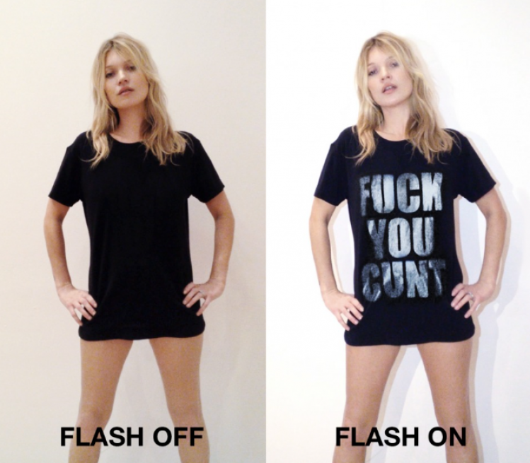 见了狗仔不要慌,KateMoss设计的这件T恤帮你忙!
