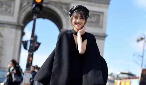 """陈燃变身""""行走的衣架"""" 现身巴黎街头"""