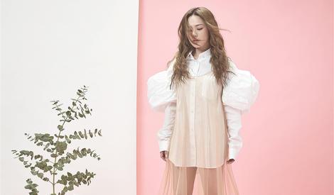 下一站公主 Twins粉色纱裙玩转甜美style
