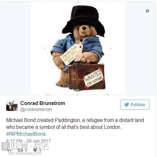 帕丁顿熊作者去世,这只秘鲁小熊温暖了一代代英国人的心...RIP -cb224c6f-04b9-46a4-93ce-5f98d0d062f6.jpeg!ac1