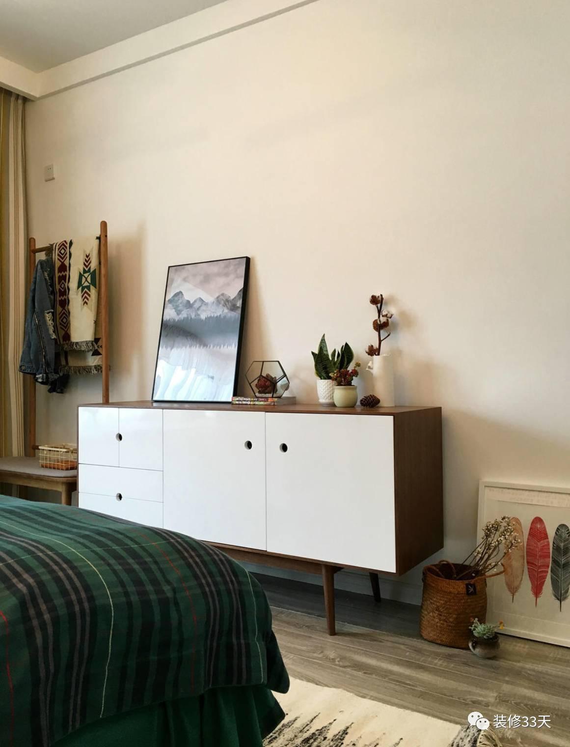 110平简约北欧风婚房,电视背景地板上墙