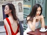 倪妮广告花絮美呆了!红裙高贵 白裙纯洁