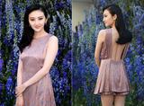 景甜Dior头排看秀,女神就要赢在够白也够瘦!