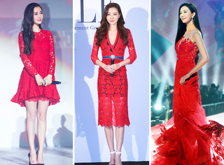 本周女星穿衣榜 | Baby、志玲、熊黛林,既然都穿红那就来场大PK吧!