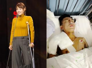 白百何腿伤还没好,陈羽凡就也骨折了,这才叫有难同当啊