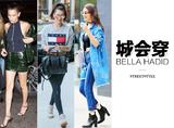 Bella Hadid的脸上写着:我不会笑,但我会穿!