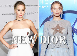 Dior换了新设计师之后,就数大表姐Jennifer Lawrence穿得最多了