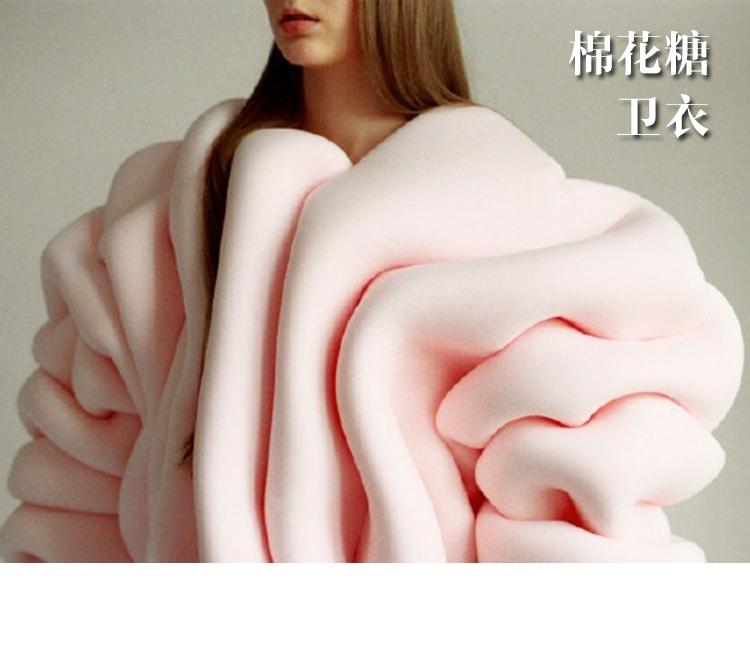 有人把卫衣做成了棉花糖的样子了,看起来就很甜很好吃