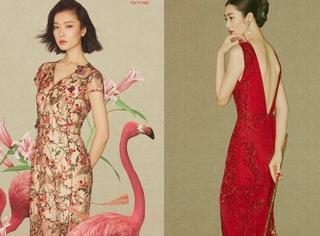 杜鹃刘雯两大超模PK起了中国风:一个仙美,一个娇艳。