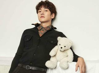 池昌旭抱着小熊拍杂志,天真烂漫,好想变成那只熊!