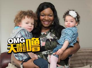 黑人妈妈生了俩白人小孩,有人开始怀疑人生了