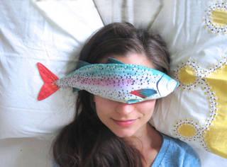 这款软绵绵香喷喷的鱼儿眼枕,多彩治愈,大海传说ing!