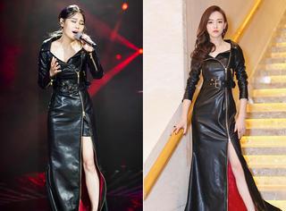 《歌手》袁娅维和唐嫣撞衫!这条霸气皮裙谁演绎得更美?