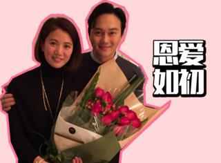 张智霖一束花感动袁咏仪,相恋16年他所有的不浪漫都是口是心非