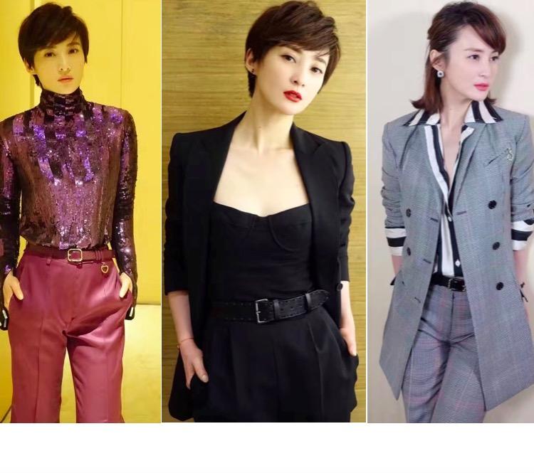 蒋勤勤不爱裙装爱裤装,41岁的她告别柔美玩儿起了时髦帅!