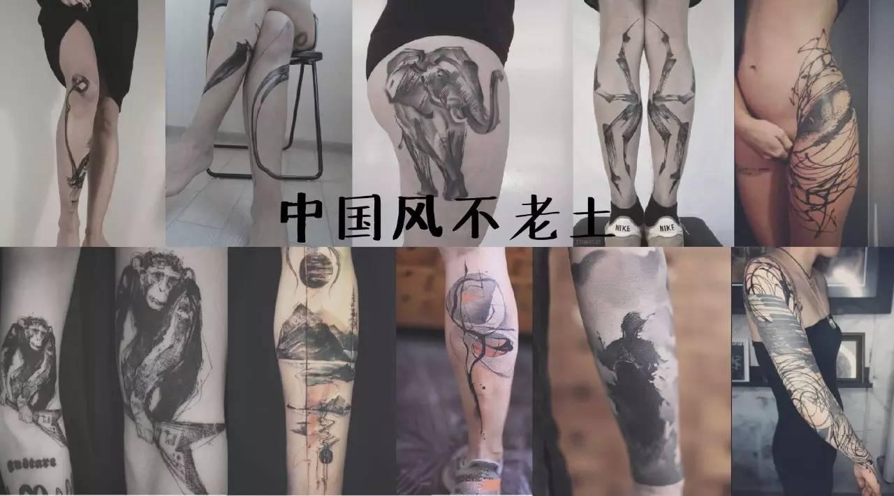 忘掉那些奇葩的汉字纹身,这5个纹身师的中国水墨风格纹身帅你一脸