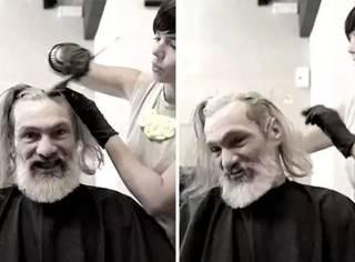 西班牙流浪汉理发后被自己帅哭,人生改变就在这一瞬!