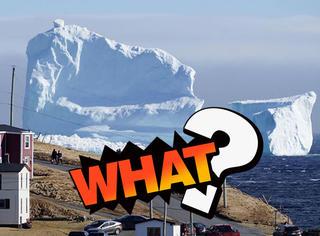 他们在海边发现46米巨大冰山