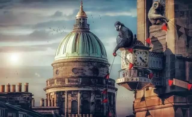 分享|他把经典城市,P成了动物王国