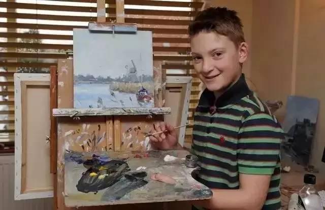 00后画画赚5000万,14分钟内全部卖光,13岁已身价过亿。