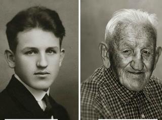 相隔70多年,摄影师给十几名捷克人拍了2张照片