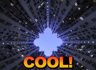 垂直角度下的香港,这里的建筑真的很酷