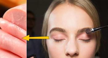 粉红眼妆的灵感来自于火腿肉?真是令人脑洞大开的联想啊