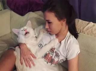 这只猫很巨大,但它不觉得自己长大了,总要黏着妈妈,最后...
