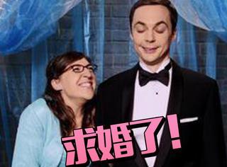 甜到爆!在第十季最后一集《乐虎国际娱乐场大爆炸》里,谢耳朵向艾米求婚了!
