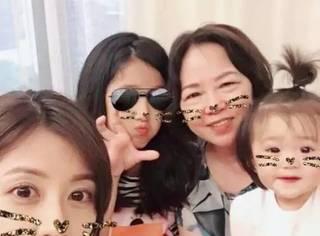 贾静雯幸福晒三女儿合照,章泽天晒一家三口…明星都这么过母亲节