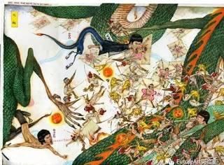 Mu Pan的混乱,优雅的战斗场面