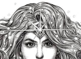 大神用40个小时手绘『神奇女侠』这笔触好厉害...