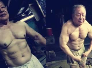 """74岁健身""""雄狮"""",为穷人开1元健身房:在肌肉面前,年龄算个屁!"""