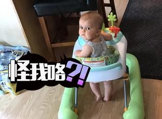 这个8个月大的宝宝成功引起了广大网友的注意