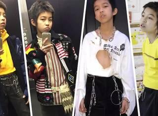 14岁就被封Fashion icon,VOUGE团队还专门飞去跟他一起逛街!