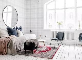 谁说预算少、空间小不能有质感?瑞典43㎡格纹小宅经济又优雅
