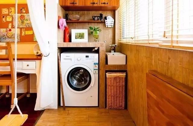 洗衣机没地方放?看看别人家的阳台!