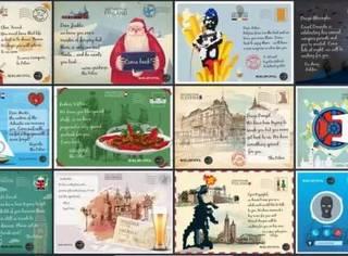 欧盟警察为抓逃犯推出卡通明信片:亲爱的逃犯我们想你啊