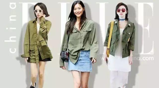 亚洲女生很难驾驭的军绿色,为什么刘雯可以穿这么美?