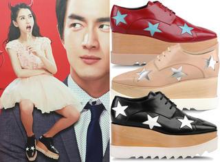 一双厚底鞋反复穿 Angelababy对它一定是真爱